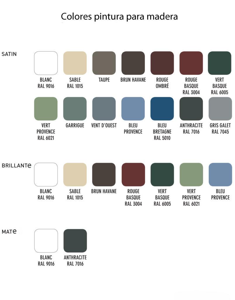 Colores pintura madera v33