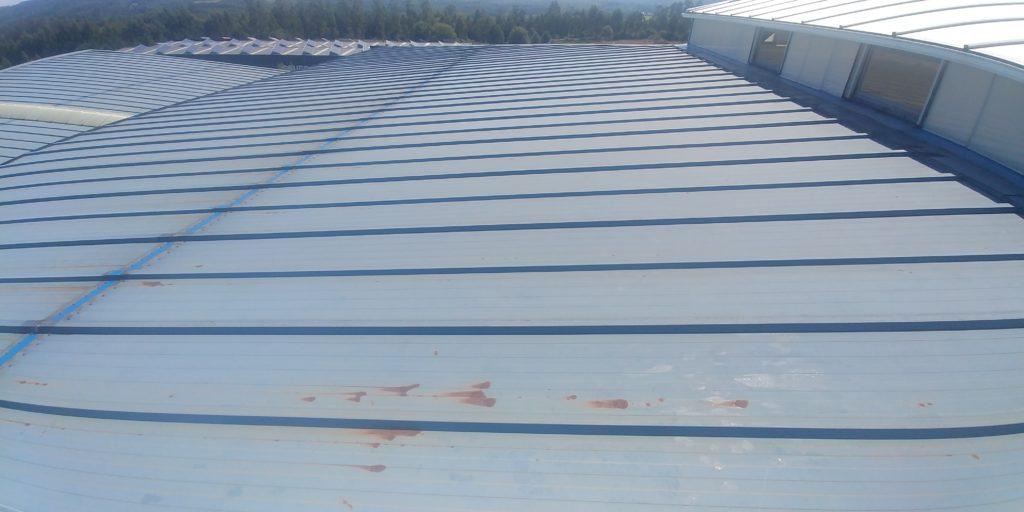 Óxido tejados de panel sandwich