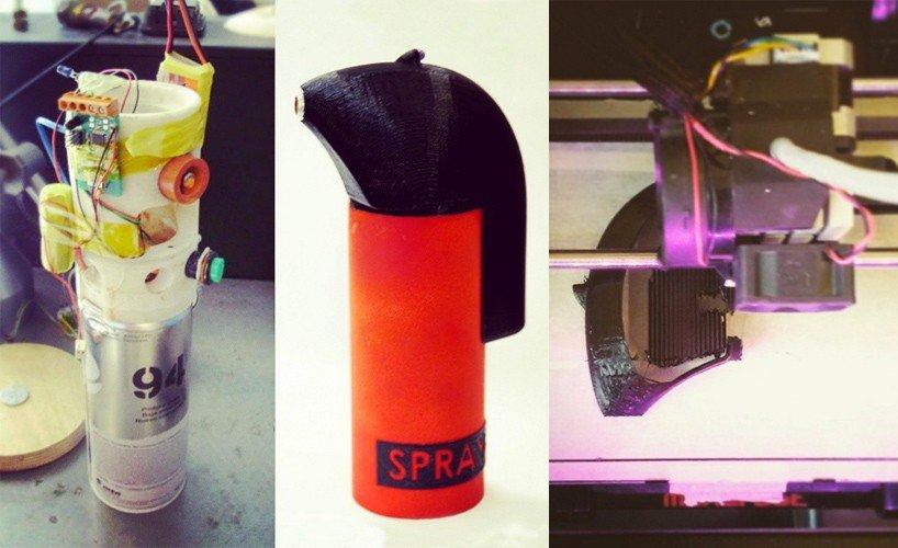 sprayprinter impreso en 3d