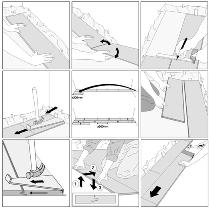 guía imágenes instalar tarima